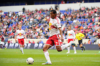 Roy Miller (7) of the New York Red Bulls. The New York Red Bulls defeated the Colorado Rapids 4-1 during a Major League Soccer (MLS) match at Red Bull Arena in Harrison, NJ, on March 25, 2012.