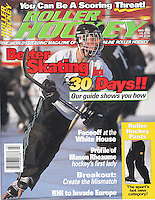1996 March Roller Hockey Magazine tearsheet and cover story.