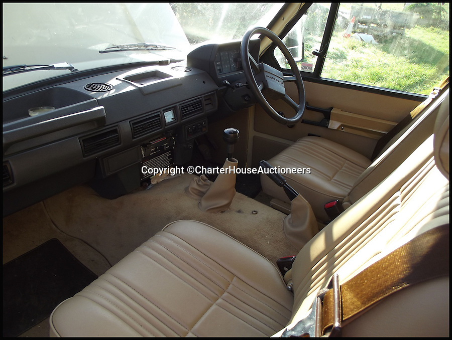 BNPS.co.uk (01202 55833)<br /> Pic: CharterHouseAuctioneers/BNPS<br /> <br /> ***Please Use Full Byline***<br /> <br /> The interior of the 1970 Range Rover Velar.<br /> <br /> An incredibly rare prototype of the very first Range Rover model has emerged for sale for &pound;30,000 more than 40 years after it was built.<br /> <br /> The much-lauded motor was one of just 40 initially built under the codename Velar, a brand set up by Land Rover to develop their now iconic Range Rover model in the late 60s.<br /> <br /> The Velar for sale - the 38th of the 40 made - is tipped to fetch &pound;30,000 when it goes under the hammer at Charterhouse Auctions in Sherborne, Dorset.