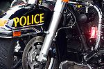 A Police motorcycle
