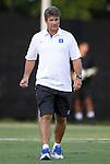 14 September 2012: Duke head coach John Kerr, Jr. The Duke University Blue Devils defeated the Clemson University Tigers 2-0 at Koskinen Stadium in Durham, North Carolina in a 2012 NCAA Division I Men's Soccer game.