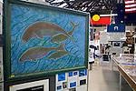 Local paintings at the Torres Strait Heritage Museum.  Horn Island, Torres Strait Islands, Queensland, Australia