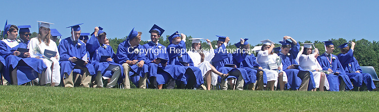 Washington, CT-061513MK05  Graduates turn their tassels during the Shepaug Valley High School class of 2013 commencement exercises on Saturday morning at Shepaug Valley high School in Washington. Michael Kabelka / Republican-American