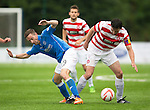 Hamilton Accies v St Johnstone...16.08.14  SPFL<br /> Steven MacLean loses out to Martin Canning<br /> Picture by Graeme Hart.<br /> Copyright Perthshire Picture Agency<br /> Tel: 01738 623350  Mobile: 07990 594431