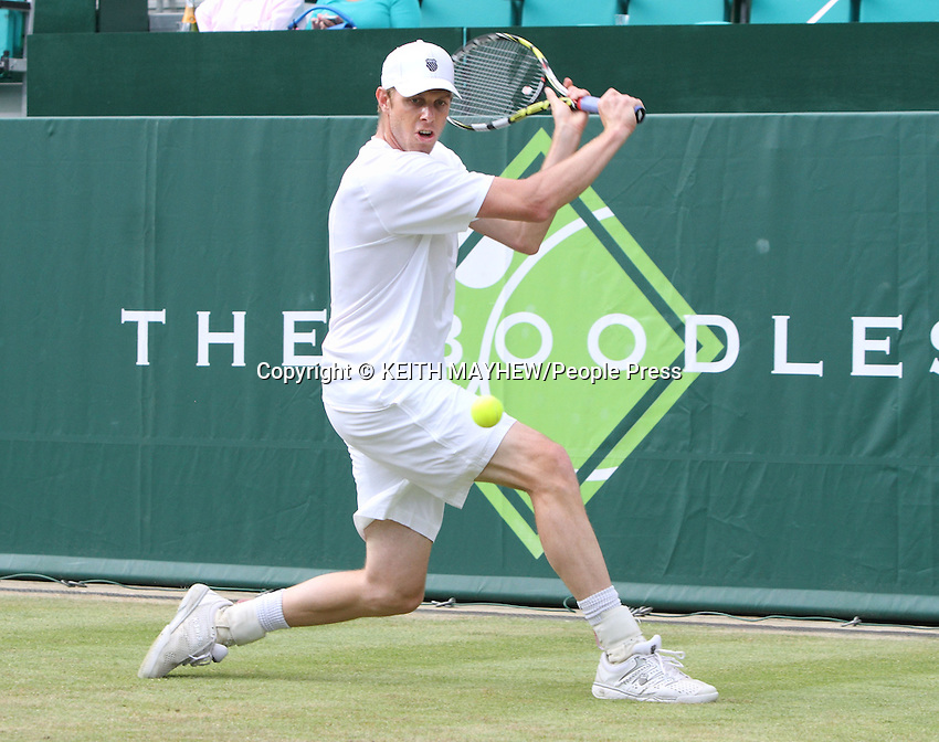 Sam Querrey (USA) plays Alexandr Dolgopolov (Ukraine) at The Boodles Tennis Challenge held at Stoke Park, Buckinghamshire, UK - June 21st 2013<br /> <br /> Photo by Keith Mayhew