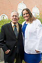 Jordan Taylor, right. Class of 2017 White Coat Ceremony.