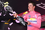 Bob Jungels (LUX) Quick-Step Floors retains the race leaders Maglia Rosa at the end of Stage 6 of the 100th edition of the Giro d'Italia 2017, running 217km from Reggio Calabria to Terme Luigiane, Italy. 11th May 2017.<br /> Picture: LaPresse/Gian Mattia D'Alberto   Cyclefile<br /> <br /> <br /> All photos usage must carry mandatory copyright credit (&copy; Cyclefile   LaPresse/Gian Mattia D'Alberto)