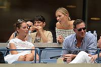 FLUSHING NY- SEPTEMBER 10: Christy Turlington, Karolina Kurkova and Edward Burns are sighted watching Angelique Kerber Vs Karolina Pliskova during the womens finals on Arthur Ashe Stadium at the USTA Billie Jean King National Tennis Center on September 10, 2016 in Flushing Queens. Credit: mpi04/MediaPunch