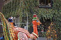 NEW YORK, NY - NOVEMBER 24: A turkey float at the90th annual Macy's Thanksgiving Day Parade in Six Avenue, on November 24, 2016 in New York City.  Photo by VIEWpress/Maite H. Mateo.
