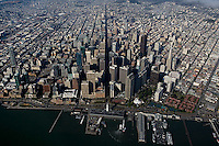 aerial photograph north waterfront, Market Street,San Francisco, California