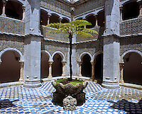 The Manueline cloisters feature 6th century Mudejar tiles