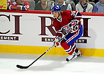 17 October 2009: Montreal Canadiens right wing forward Matt D'Agostini in first period action against the Ottawa Senators at the Bell Centre in Montreal, Quebec, Canada. The Senators defeated the Canadiens 3-1. Mandatory Credit: Ed Wolfstein Photo
