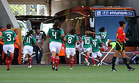 Wolfsburg , 270611 , FIFA / Frauen Weltmeisterschaft 2011 / Womens Worldcup 2011 , Gruppe B  ,  .England - Mexico .Torjubel Mexico nach dem 1:1 Ausgleich durch Monica Ocampo .Foto:Karina Hessland .
