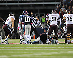 Ole Miss recovers a fumble vs. Texas A&amp;M in Oxford, Miss. on Saturday, October 6, 2012. Texas A&amp;M won 30-27...
