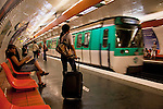 metro station in Paris France in May 2008