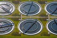 Klaerwerk Hetlingen: DEUTSCHLAND, SCHLESWIG HOLSTEIN, (GERMANY), 28.03.2017:  Klaerwerk Hetlingen, Abwasserreinigung ueber Klaerbecken