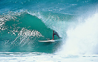 Wayne Rabbit Bartholomew (AUS) surfing at Kirra, Queensland, Australia. circa 1992. Photo:joliphotos.com