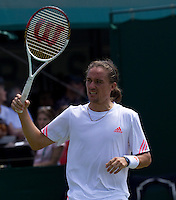 ALEXANDR DOLGOLPOLOV ..Tennis - Grand Slam - The Championships Wimbledon - AELTC - The All England Club - London - TUE June 26th 2012. .© AMN Images, 30, Cleveland Street, London, W1T 4JD.Tel - +44 20 7907 6387.mfrey@advantagemedianet.com.www.amnimages.photoshelter.com.www.advantagemedianet.com.www.tennishead.net