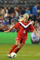 Canada midfielder Kaylyn Kyle (6) in action.