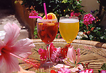 Cocktail drinks in the garden.