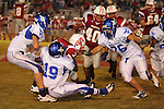 Water Valley's James Washington (19) makes a tackle vs. South Pontotoc in Pontotoc, Miss. on Friday, October 7, 2011. Water Valley won 49-7.