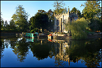 BNPS.co.uk (01202 558833)<br /> Pic: Henry&amp;James/BNPS<br /> <br /> Lord it up as king of one of England's smallest castles...<br /> <br /> A stunning Gothic-style moated property - built on the site of a medieval castle demolished by Oliver Cromwell during the English Civil War - is on the market for &pound;1.75million.<br /> <br /> Starborough Castle in Lingfield, Surrey, is a two-bedroom home with just 1,066sq ft of accommodation but comes with a cottage and longboat which provide extra accommodation.<br /> <br /> The unique house, which also comes with ten acres of grounds, is being sold through estate agents Henry &amp; James.