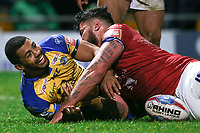 Picture by Alex Whitehead/SWpix.com - 17/03/2017 - Rugby League - Betfred Super League - Leeds Rhinos v Wakefield Trinity - Headingley Carnegie Stadium, Leeds, England - Leeds' Kallum Watkins scores a try.