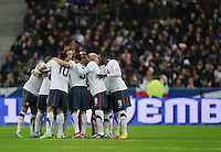 Team USA forms a circle prior to the friendly match France against USA at the Stade de France in Paris, France on November 11th, 2011.