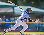 4 September 2016: Vermont Lake Monsters infielder Eli White in action against the Lowell Spinners at Centennial Field in Burlington, Vermont. The Lake Monsters fell to the Spinners 8-3 in NY Penn League action. Mandatory Credit: Ed Wolfstein Photo *** RAW (NEF) Image File Available ***