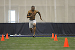 Mississippi football player Markeith Summers at Pro Day in the IPF in Oxford, Miss. on Tuesday, March 22, 2011.