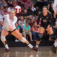 STANFORD, CA - August 28, 2016: Hayley Hodson at Maples Pavilion. The Stanford Cardinal defeated the University of Minnesota 3-1.
