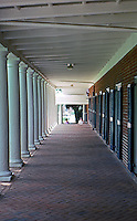 Thomas Jefferson: Univ. of Virginia, Passageway fronting student quarters.  Photo '85.