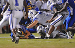 Oxford High's Franklin Tatum (8) recovers a fumble vs. Senatobia in high school football in Oxford, Miss. on Friday, September 9, 2011. Oxford won 40-20.