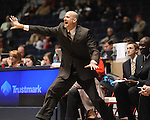 "Mississippi head coach Andy Kennedy reacts against Coastal Carolina at the C.M. ""Tad"" Smith Coliseum in Oxford, Miss. on Tuesday, November 13, 2012. Mississippi won 90-72."