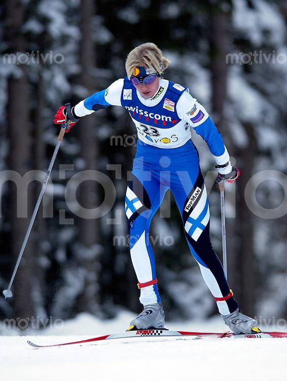 Skinordisch, Langlauf -VIESSMANN- FIS World Cup Cross-Country 29. DAVOS NORDIC 2002 DAVOS (Schweiz) Damen 10km freie Technik Annmari Viljanmaa (FIN)