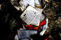 Abandoned file of a buyer within the factory. At least 112 people died, and more than 100 were injured at a fire at the Tazreen Fashions textile factory in Dhaka. Bangladesh's garment industry has a notoriously bad fire safety record; if the right precautions had been taken, the fire could have been prevented.