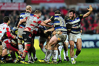 Nathan Catt of Bath Rugby in action. Aviva Premiership match, between Gloucester Rugby and Bath Rugby on March 26, 2016 at Kingsholm Stadium in Gloucester, England. Photo by: Patrick Khachfe / Onside Images