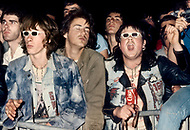 """Mont de Marsan, France. August 7th, 1977. Young crowds at the second edition of the first European Punk Rock Festival at Mont De Marsan. Although the """"punks""""  were ambiguous and controversial, they did not trouble the surrounding cites , as some people feared."""