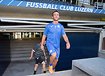FC Luzern v St Johnstone...16.07.14  Europa League 2nd Round Qualifier<br /> Chris Millar pictured at the Swissporarena ahead of tomorrow's game against FC Luzern<br /> Picture by Graeme Hart.<br /> Copyright Perthshire Picture Agency<br /> Tel: 01738 623350  Mobile: 07990 594431
