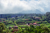 Bali, Tabanan, Bedugul. This is a fertile area with green hills and mountains.