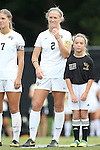 28 September 2014: Wake Forest's Riley Ridgik. The Wake Forest University Demon Deacons hosted the Notre Dame University Fighting Irish at W. Dennie Spry Soccer Stadium in Winston-Salem, North Carolina in a 2014 NCAA Division I Women's Soccer match.