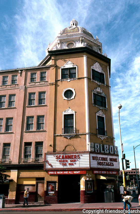 San Diego: Balboa Theater. William Wheeler, 1924.  (Photo '81)