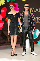Model Cara Delevigne and designer Jeremy Scott present their collaboration Magnum X Maschino during the 70th Annual Cannes Film Festival at Plage l'Ondine in Cannes, France, on 18 May 2017. Photo: Hubert Boesl - NO WIRE SERVICE · Photo: Hubert Boesl/dpa /MediaPunch ***FOR USA ONLY***