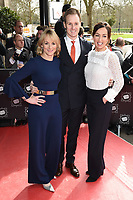 Dan Walker, Louise Minchin &amp; Sally Nugent at the TRIC Awards 2017 at the Grosvenor House Hotel, Mayfair, London, UK. <br /> 14 March  2017<br /> Picture: Steve Vas/Featureflash/SilverHub 0208 004 5359 sales@silverhubmedia.com