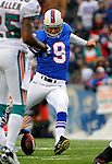 9 December 2007: Buffalo Bills kicker Rian Lindell scores his 18th consecutive field goal, a Buffalo record, against the Miami Dolphins at Ralph Wilson Stadium in Orchard Park, NY. The Bills defeated the Dolphins 38-17. ..Mandatory Photo Credit: Ed Wolfstein Photo