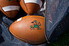Aug 9, 2013; An equipment bag full of footballs sits on the sideline during practice at the LaBar Practice Complex.