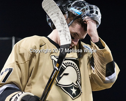 Michael Wilson (Army - 27) - The Bentley University Falcons defeated the Army West Point Black Knights 3-1 (EN) on Thursday, January 5, 2017, at Fenway Park in Boston, Massachusetts.The Bentley University Falcons defeated the Army West Point Black Knights 3-1 (EN) on Thursday, January 5, 2017, at Fenway Park in Boston, Massachusetts.