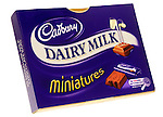 Box of Cadbury Dairy Milk Miniatures Chocolates