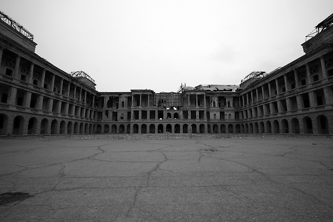Interior courtyard of the Darul Aman palace on the outskirts of Kabul, Afghanistan. Built in the early 1920s by King Amanullah Khan, the palace was left a gutted shell during the 1992-1994 civil war as rival mujahideen factions fought for control of the Afghan capital. Feb. 2, 2009.