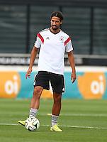 Sami Khedira of Germany during training ahead of tomorrow's World Cup Final